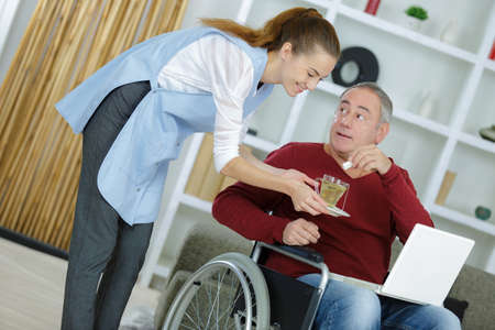 caregiver in the patients house