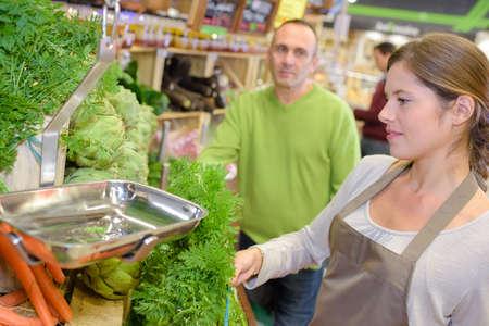 female vegetable vendor