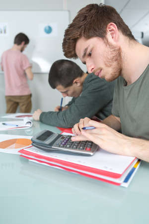 school education people and learning concept Stock Photo