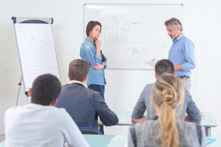 scene int the classroom Standard-Bild