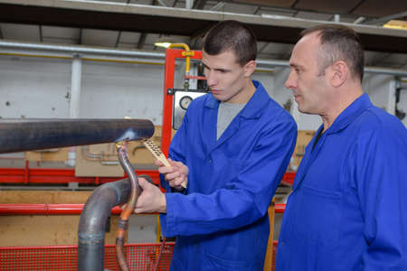 young man in ironworks training course