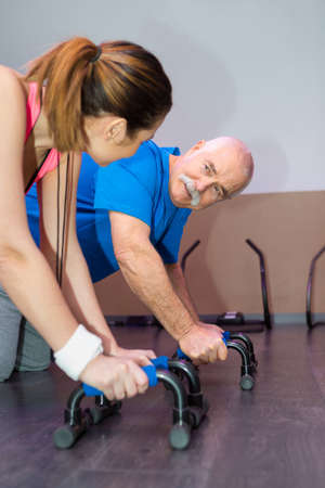 elderly doing fitness