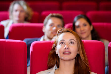 watching a film at the cinema
