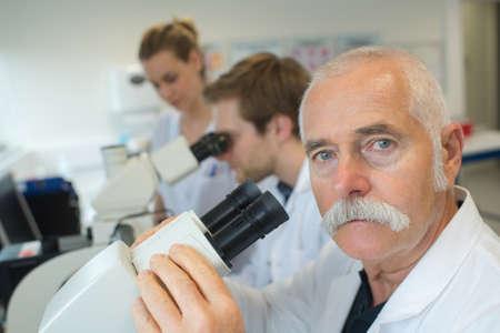 senior scientist at work in a laboratory