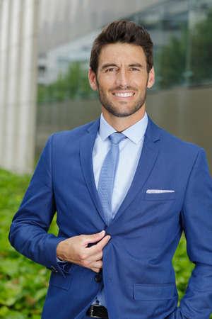handsomen businessman outdoors Stock Photo