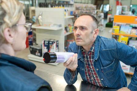 unhappy customer in the shop