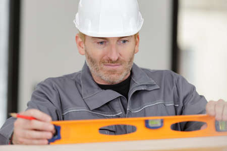 concentrated builder keeping special tool Stock Photo