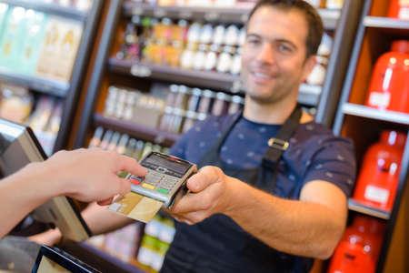 Nahaufnahme der Zahlungsmethode Standard-Bild