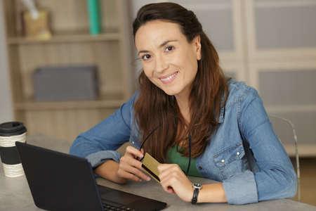 happy woman smiling at camera