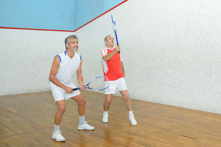 portrait of friends tandem in badminton