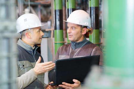 oil rig engineers at work