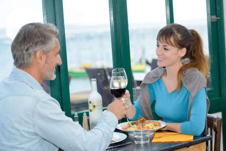 couple and toast of wine