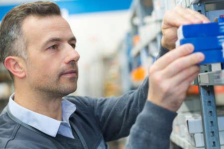man working on a warehouse Zdjęcie Seryjne
