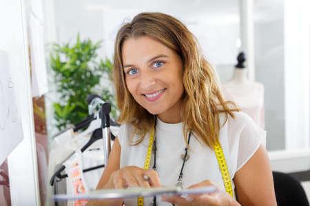 portrait of female tailor Banco de Imagens