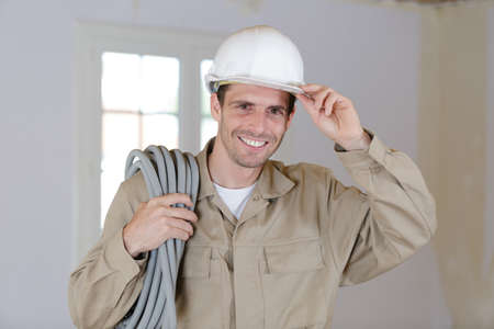 handsome adult male contractor h