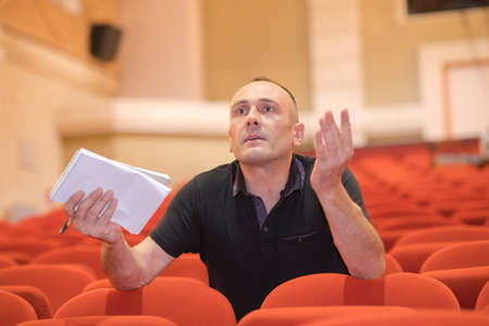 a man doing a casting