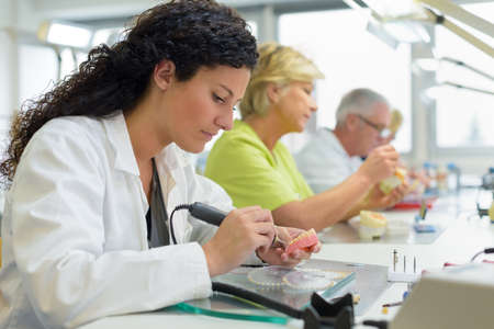 Female detail assistant in the lab