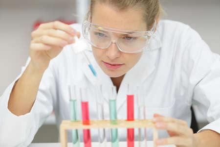 close up of a female laboratory researcher