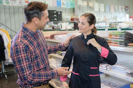 a shop that sells uniforms Archivio Fotografico