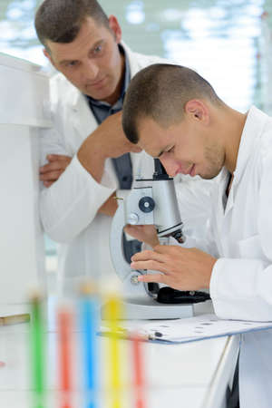 young lab assistant in a laboratory Stock Photo
