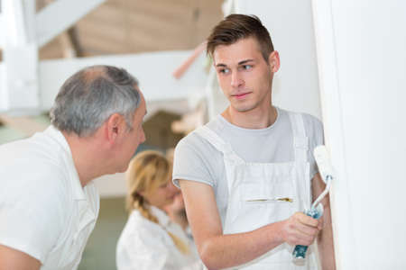 painter with apprentice