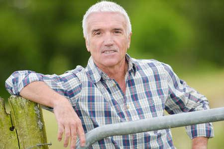 portrait of a mature man 免版税图像