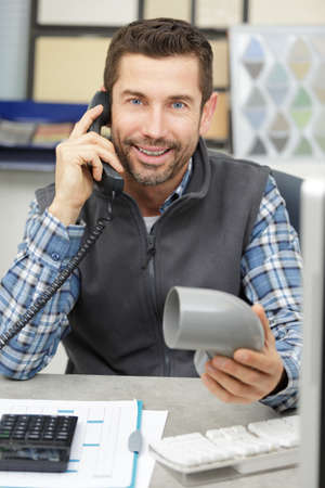 plumber merchant on the phone