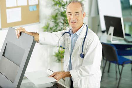 a doctor doing a photocopy