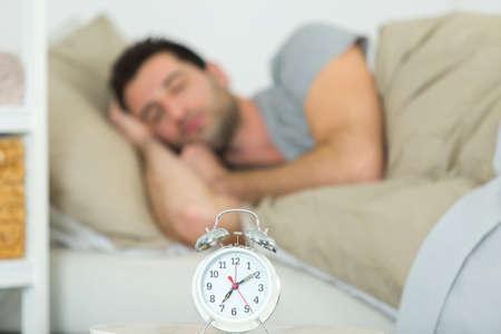 a man is sleeping peacefully Stok Fotoğraf