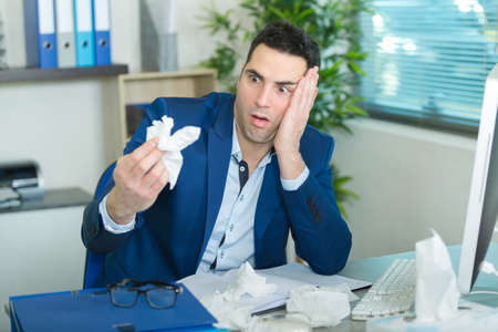 portrait of a disgusted businessman Stockfoto