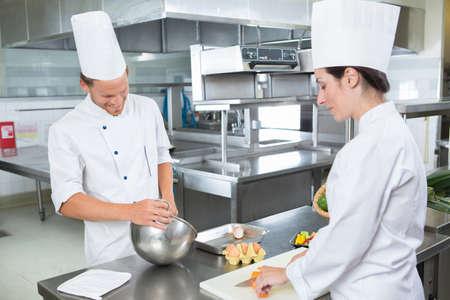 portrait of restaurants chefs at work Stockfoto