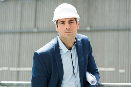 architect at construction site area