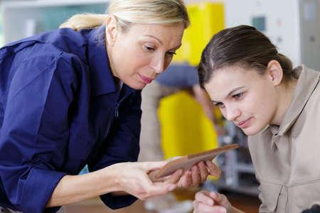 woman teacher and woman apprentice Stock fotó