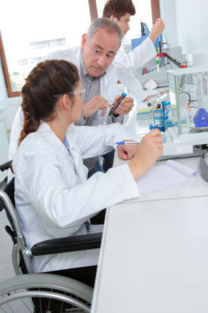 young lab technician working in research laboratory