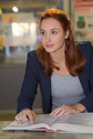 woman working in a design studio