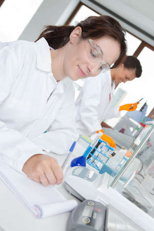concept of women conducting an experiment
