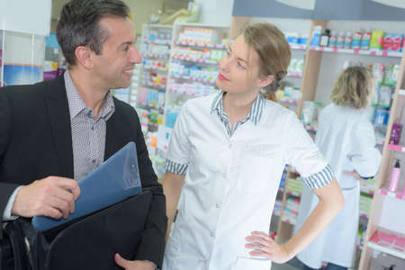 visit from a pharmaceutical industry representative