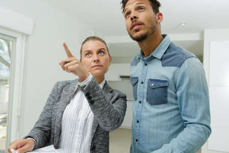 mortgage people and real estate concept