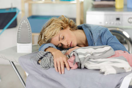 a housewife problems tiredness concept Stock Photo