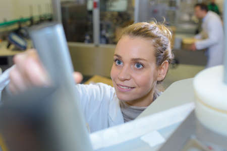 a female worker in the lab Banque d'images