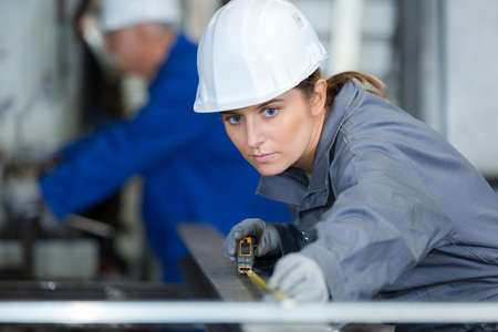Professional woman engineer in engineering concept