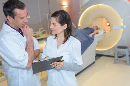 ct scan in modern hospital Stock Photo
