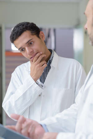 a young doctor is thinking