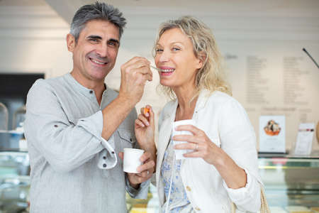 mature couple shopping in a store