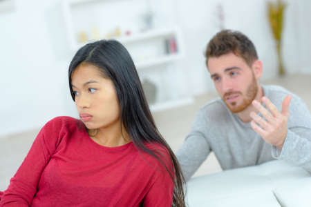 Couple having a heated discussion