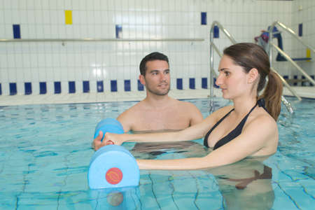 they are having an aquagym session
