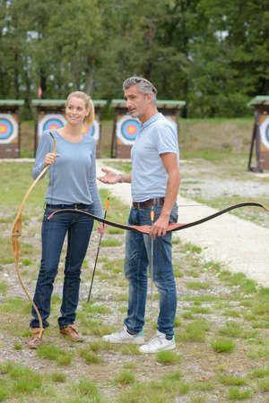 friends in the archery club