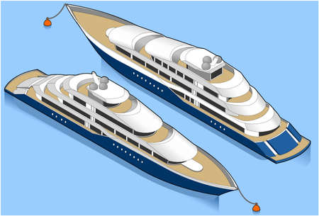 luxury yacht: Isometric yacht