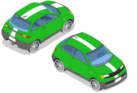 rear wheel: Isometric car