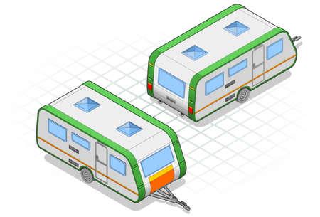 Isometric caravan Vector